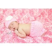 Pink girl set newborn crochet outfit, Crochet girl outfit, Tinysmiley