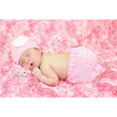 Pink girl set newborn crochet outfit, Crochet girl outfit, Tinysmiley