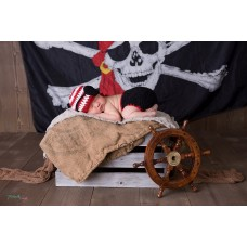 Pirate Baby Newborn Set Diaper Cover and Hat